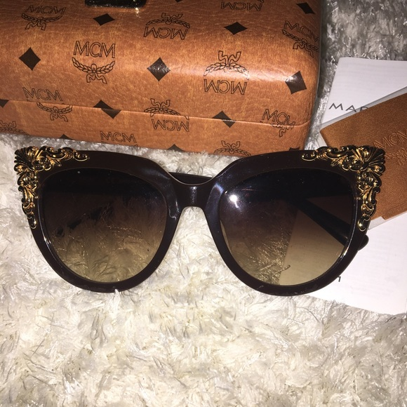 194a1d84f2 MCM brown and gold cat eye sunglasses